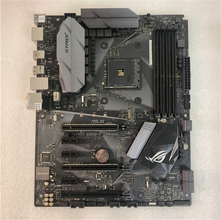 Asus ROG STRIX <font><b>B350</b></font>-F GAMING Motherboard <font><b>AMD</b></font> <font><b>B350</b></font> socket AM4 Desktop Motherboard support RYZEN 3700x used motherboard image