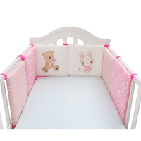 6pcs Room Decor Soft Cartoon Protector Safety Colorful Baby Bed Bumper Set Pads Cotton Blend Cushion Newborn For Crib Cot Cute