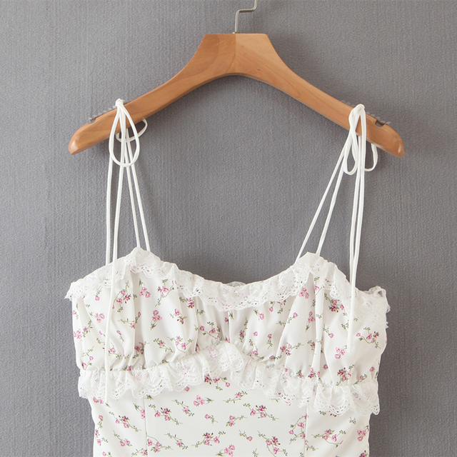 Summer mini Dress string strap and adjustable bottom 3
