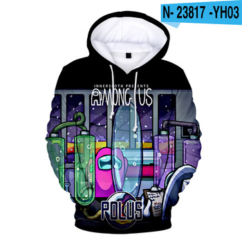 New Autumn Winter Tops Funny Print Among Us Hoodie Cartoon 3D Printed Pullover Sweatshirt Adult Harajuku Anime Pullover 26