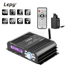 LP 2020 USB Lepy Car Amplifier Bluetooth 4.0 Digital Player Class T 2x 20W RMS HIFI Stereo Audio Power Home Multimedia SD AUX EQ
