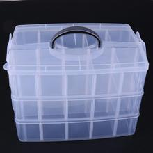 Organizer-Box Drill Nail-Art Jewelry Cosmetic Manicure Rhinestone Multi-Layer Plastic