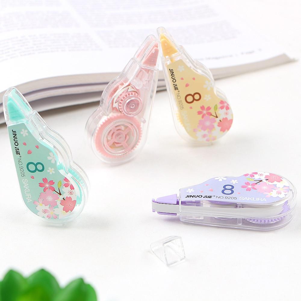 4Pcs/Set Kawaii Cherry Correction Tape Cute Cartoon Tapes School Writing Corrector Tool Office Supplies Stationery