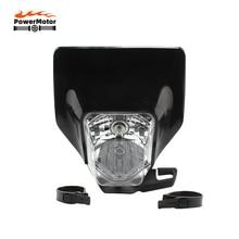 Nieuwe Motorfiets Koplamp Zwarte Koplamp Head Light Lamp Voor Husqvarna Fc Fe Fx Tc Te Tx 125 250 300 350 450 501 FE250 FC250 TC25