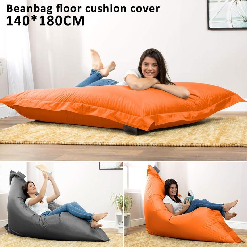 140x180cm Bean Bag Magic Seat Sofa Cover Ligstoel Stoelen Floor Cushion Cover Tatami Poef Seat Slaapkamer Meubels Lounge Stoel