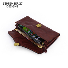 Clutch Wallets Women First Layer Leather Phone Purses Top Cowhide Vintage Passport Credit Card Case Travel Long Purse Money Bag