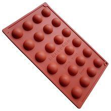 1 шт полусферическая силиконовая форма shpae 24 полость шоколада