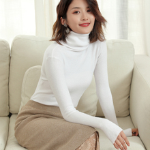 LHZSYY 2019Autumn Winter New Women's Free collar Knit Sweater Fashion Tight Solid Color Pullover Short Warm Wild Bottoming Shirt стоимость