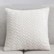 Soft Plush Decorative Cushion Covers Pillowcase Home Decor Throw Pillow Cover Living Room Bedroom Sofa Christmas Decoration Warm