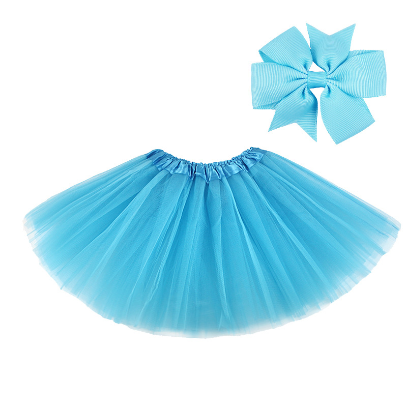 0-8Y Pink Tutu Skirt with Hear-clip for Kids Princess Girls Petticoats Birthday Party Dance Wear Kawaii Skirts 3