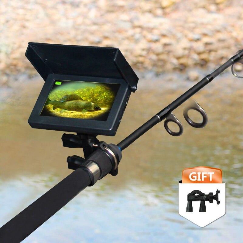 GLÜCK unterwasser 1000TVL Fisch Finder Unterwasser Angeln trübe wasser Kamera 6 stücke Infrarot Lampe Für Eis/Meer