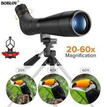 BOBLOV B60HD 20 60X60 cannocchiale impermeabile BAK4 prisma + supporto per telefono con treppiede per tiro al bersaglio