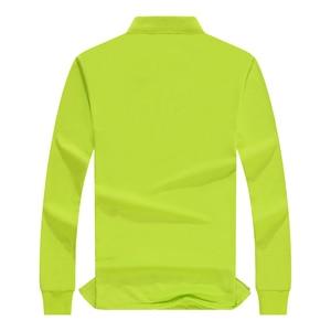 Image 2 - Autumn High Quality Polo Shirts customization Female Casual Solid Sweatshirt Women Cotton Long Sleeve Tops Shirt Plus Size