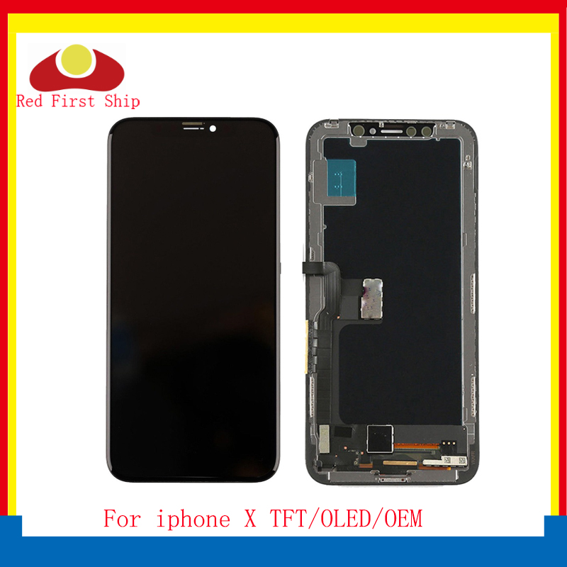 10Pcs/lot For <font><b>iphone</b></font> X LCD Screen Pantalla monitor For <font><b>iphone</b></font> X Display Touch Screen Digitizer LCD Complete <font><b>A1865</b></font> A1901 LCD image