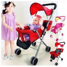 Baby Toys Stroller for Girls Pretend Play Stroller Pushchair Toys Walker Cart Ch