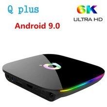 Q Plus 4GB+32GB Smart TV BOX Android 9.0 H6 Quad Core 6K USB