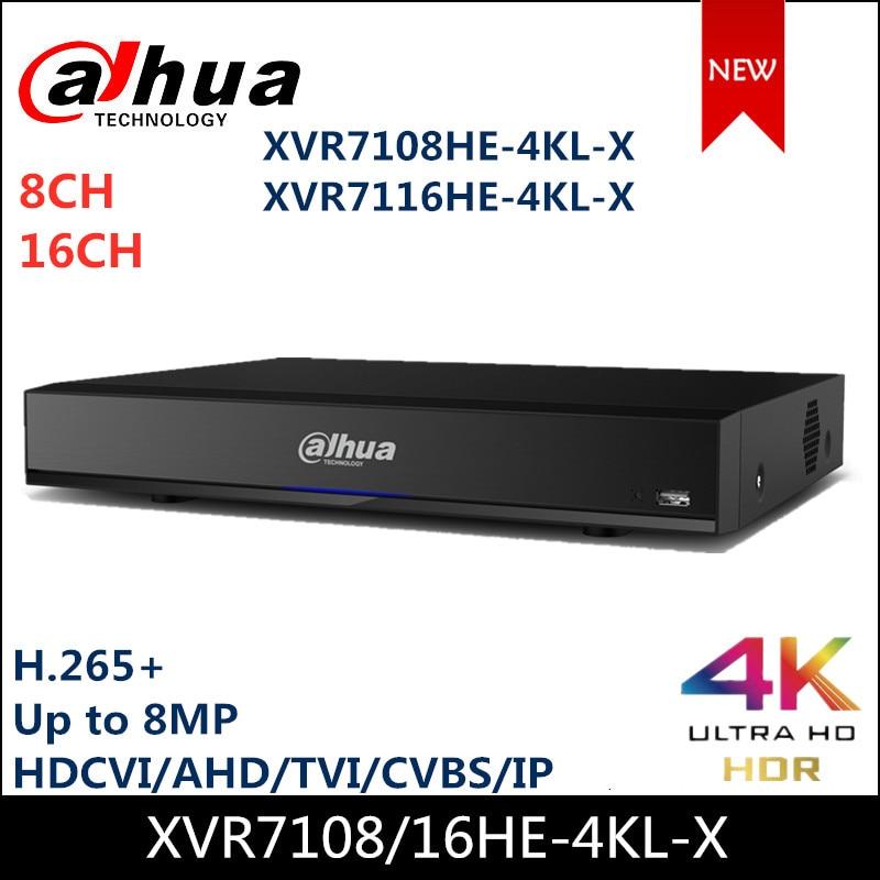 Dahua 8CH 16 Channel XVR XVR7108HE-4KL-X XVR7116HE-4KL-X Penta-brid 4K Mini 1U Digital Video Recorder IoT & POS Functionalities