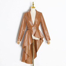 Outerwear Waist-Jacket Trench Women Coat BELTED Long Ladies Casual Slim Fashion Maxi