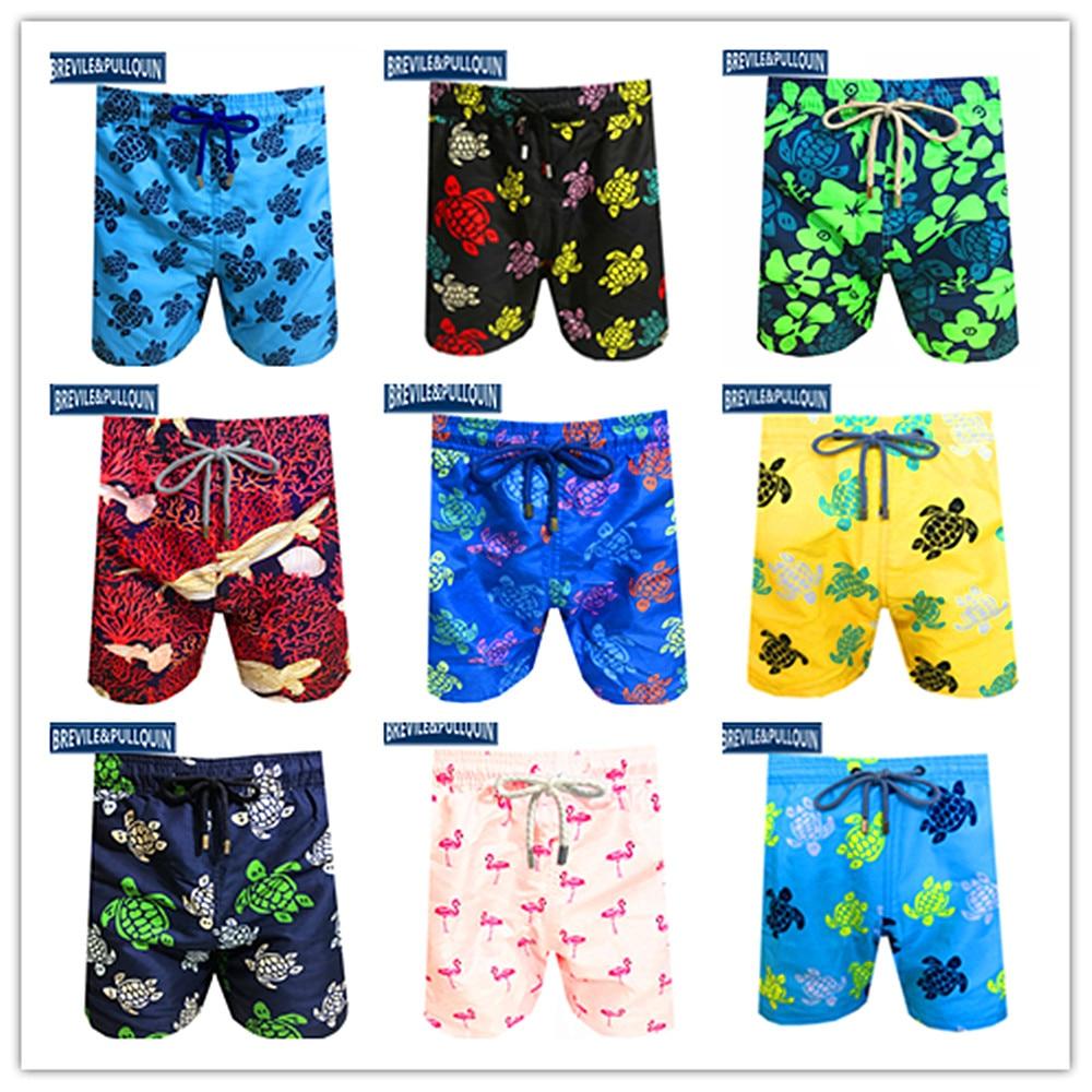 The Lowest Price 2020 New Arrivals Bermuda Boardshorts Mens Turtles Swimsuits Brevile Pullquin Beach Lovers Swimtrunks Swimwear