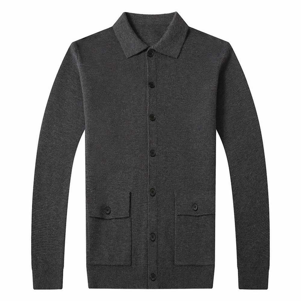 2020 เสื้อกันหนาวเสื้อผู้ชายเสื้อกันหนาวแฟชั่นผู้ชายฤดูใบไม้ร่วงฤดูหนาว WARM ผ้าขนสัตว์ชนิดหนึ่งขนสัตว์ Cardigan ผู้ชายกระเป๋า