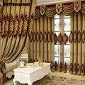 Новые европейские вышитые занавески для гостиной, столовой, спальни