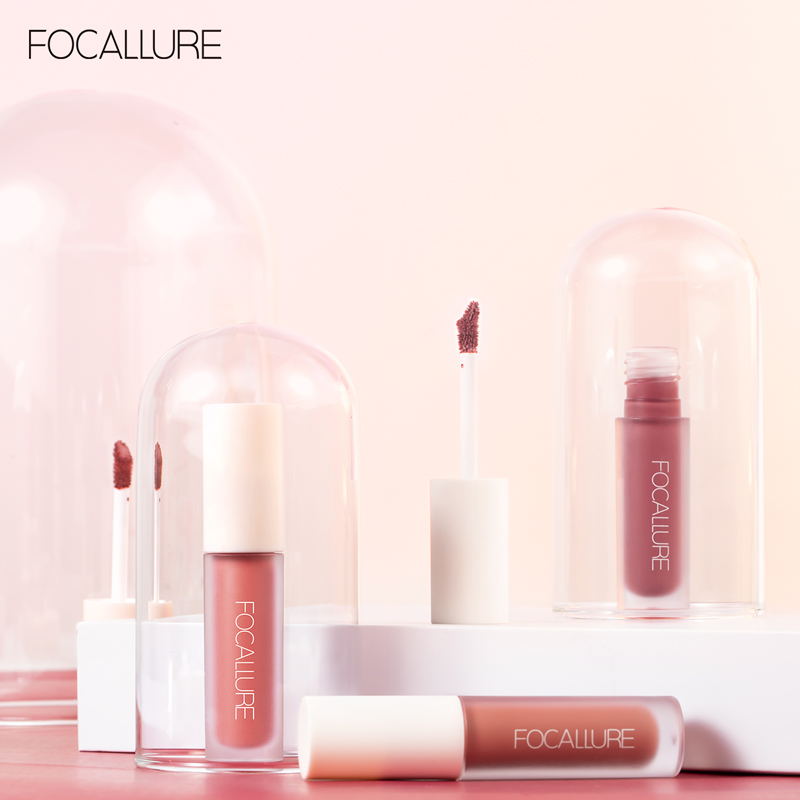 FOCALLURE Staymax Cosmetic Matte Lipstick Long-Lasting Waterproof 8 Colors No Sticky Gloss Lip Makeup Lipstick