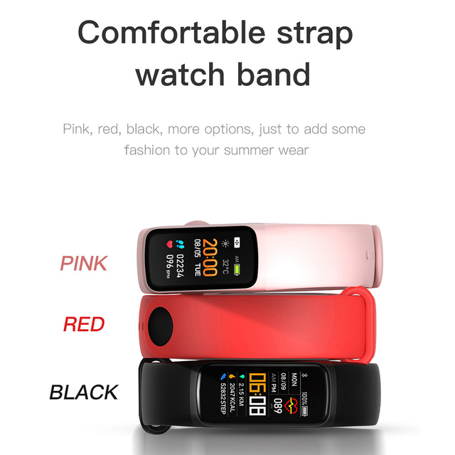 Fitness Bracele Waterproof Sport Fitness Tracker Blood Pressure Heart Rate Pedometer Smart Band Watch For Android IOS 3