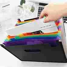 12 Слои Органы сумка папка для документов a4 документ мешок