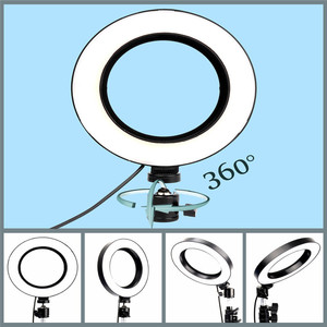 """Image 4 - LED Ring Light 6"""" with Tripod Stand for Tik Tok YouTube Video Makeup Live Streaming Mini Camera Lamp 20cm Photographic Lighting"""