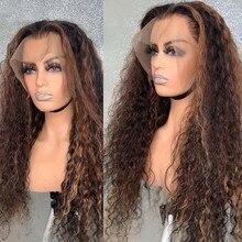 Maylaysia encaracolado destaque loira seda parte superior 13x6 frente do laço perucas de cabelo humano para as mulheres 360 base de seda cheia laço pré arrancado u parte