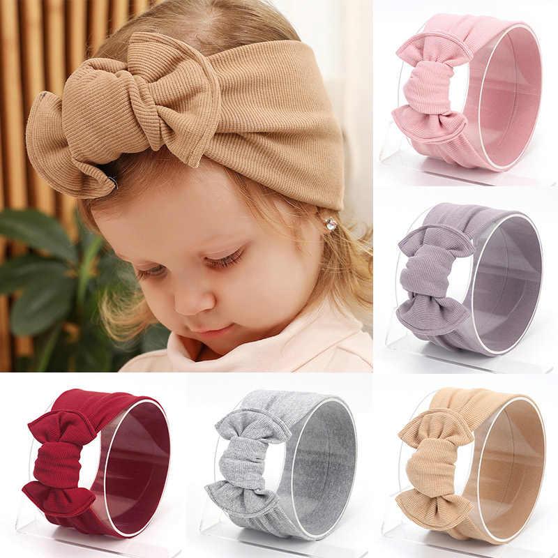 Baby Bows Hoofdband Zachte Gebreide Hoofdbanden Voor Meisjes Kids Haarband Baby Peuter Tulband Haarband Haaraccessoires