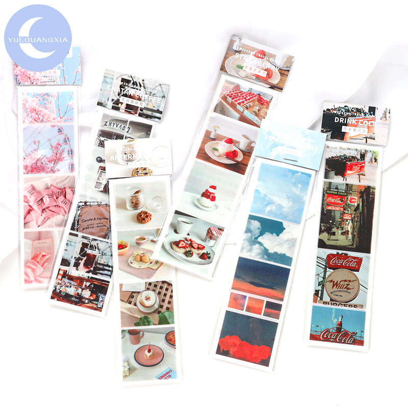 YueGuangXia 6 Designs Piece Of Life Bullet Journaling Singal Tape Japan Deco Bullet Journal Tour Cute Scrapbooking Masking Tapes