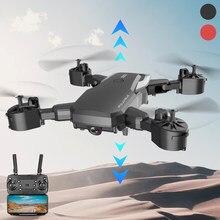 F85 zangão 4k hd câmera wifi fpv 1080p dupla câmera siga-me dobrável quadcopter zangão rc vermelho e preto longa vida útil da bateria brinquedo