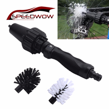 SPEEDWOW Car Motorcycle Bicycle Wheel Tire Rim Scrub Water-driven Rotating Cleaning Scrub Car Handle Washing Scrub Clean Tools car tools clean 1pcs car truck motorcycle bicycle washing cleaning tool wheel tire rim scrub