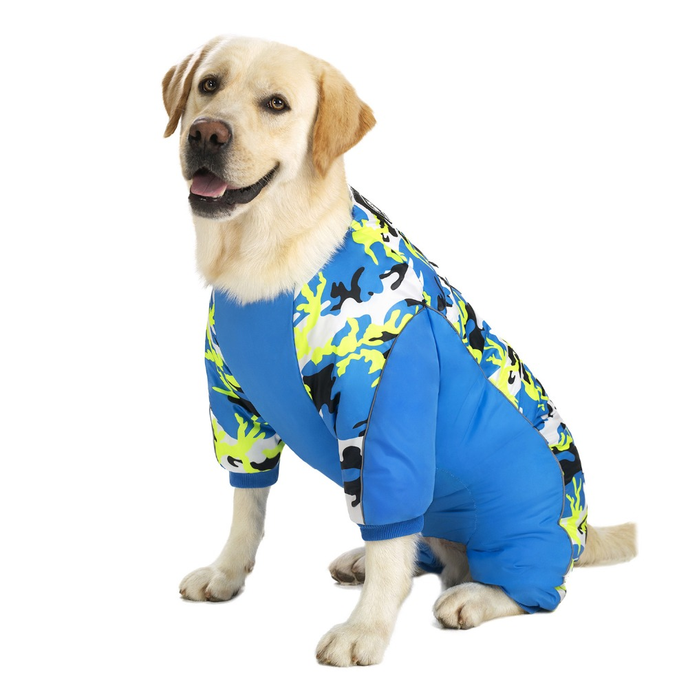 Reflective Large Dog Overalls Winter (2)