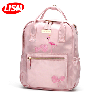 Diaper Bag Backpack Baby Large Capacity Mother Multi-function Waterproof Outdoor Traveling Bags For Care Pink