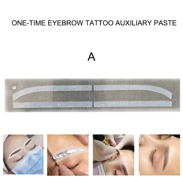 6 Pair Disposable Eyebrow Tattoo Shaping Auxiliary Sticker Templates Eyebrow Stencil FO Sale 2