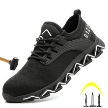 Men's And Women's Work Shoes High Quality Steel Toe Safety Shoes Men's Lightweight Breathable Shoes Anti-smashing Stab-resistant