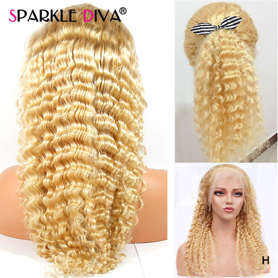 613 Glueless Blonde Lace Front Human Hair Wigs Brazilian Loose Deep Wave Wigs 13*4 Human Hair Wig Blonde Lace Front Wig Remy