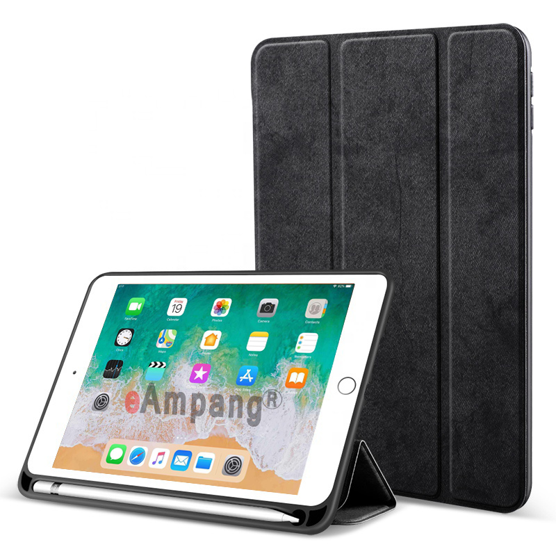Black Blue For iPad 10 2 2019 Case with Pencil Holder for Apple iPad 7 7th Generation A2197