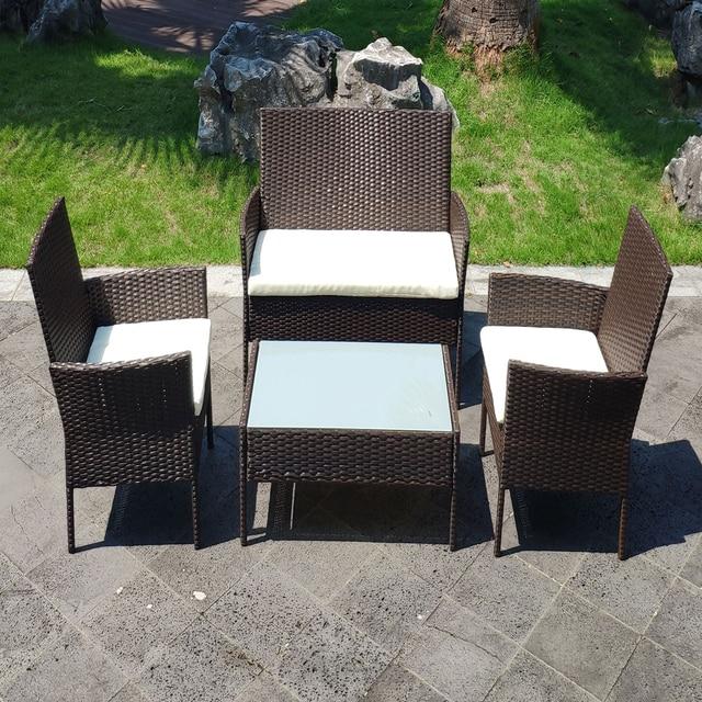 4 PCS Patio Furniture Set  2