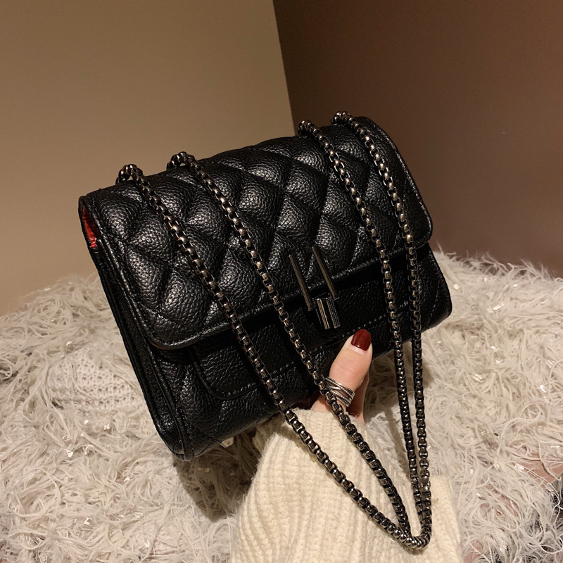 Fashion New Small Flap Bag Women's Handbag PU Leather Classic Lock Designer Sling Lady Chain Messenger Shoulder Bags For Women