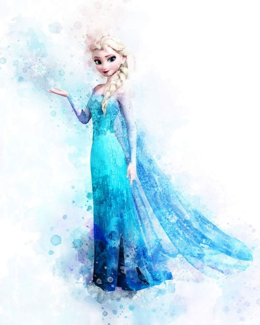 All-Princess-Watercolor-Painting-Canvas-Print-Nursery-Wall-Art-Poster-Elsa-Anna-Party-HD-Picture-Baby.jpg_640x640