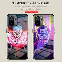Clown USA 영화 전화 케이스 커버 강화 유리 Xiao mi 9 10 8 10Pro11 Redmi Note9 9Pro 10 10Pro POCO X3