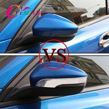 2 pz/set Retrovisore Auto Copertura Dello Specchio Strisce Fit Per Ford Focus 4 MK4 2019 2020 Vista Posteriore Della Copertura Dello Specchio Trim adesivi Accessori