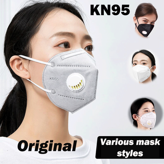 KN95 Spot Mask Adult child valve mask Anti Dust Pollution Filter PM2.5 Protective Respirator mascarilla Various colors 1