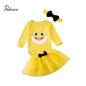 Рождественские милые платья с героями мультфильмов для маленьких девочек вечерние комбинезоны для первого дня рождения + повязка на голову...