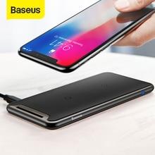 Baseus 트리플 코일 무선 충전기 아이폰 X Xs 최대 XR 데스크탑 빠른 무선 충전기 스탠드 삼성 Note9 S9 S8