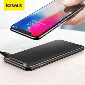 Image 1 - Baseus 트리플 코일 무선 충전기 아이폰 X Xs 최대 XR 데스크탑 빠른 무선 충전기 스탠드 삼성 Note9 S9 S8