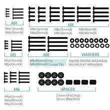 Wali kit de equipamento universal para montagem de tv, inclui parafusos de televisão m4 m5 m6 m8 e espaçador cabe na maioria das tvs up para 80 polegadas (uvsp), preto preto